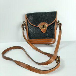 Dooney & Bourke Vintage Leather Small Black Brown